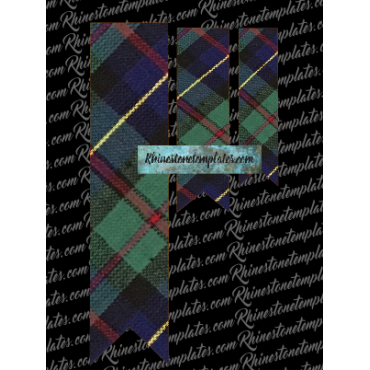 Cheer Bow Tartan Plaid Trip Sublimation Design
